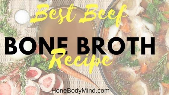 bone broth in pot