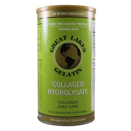 great lakes collagen hydrolysate container green