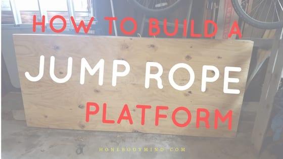plywood jump rope platform homemade