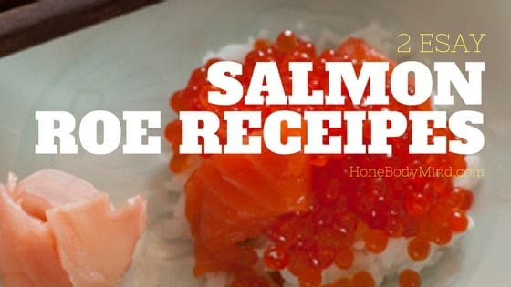 salmon roe on rice