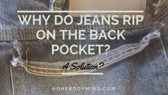 jean back pocket ripped