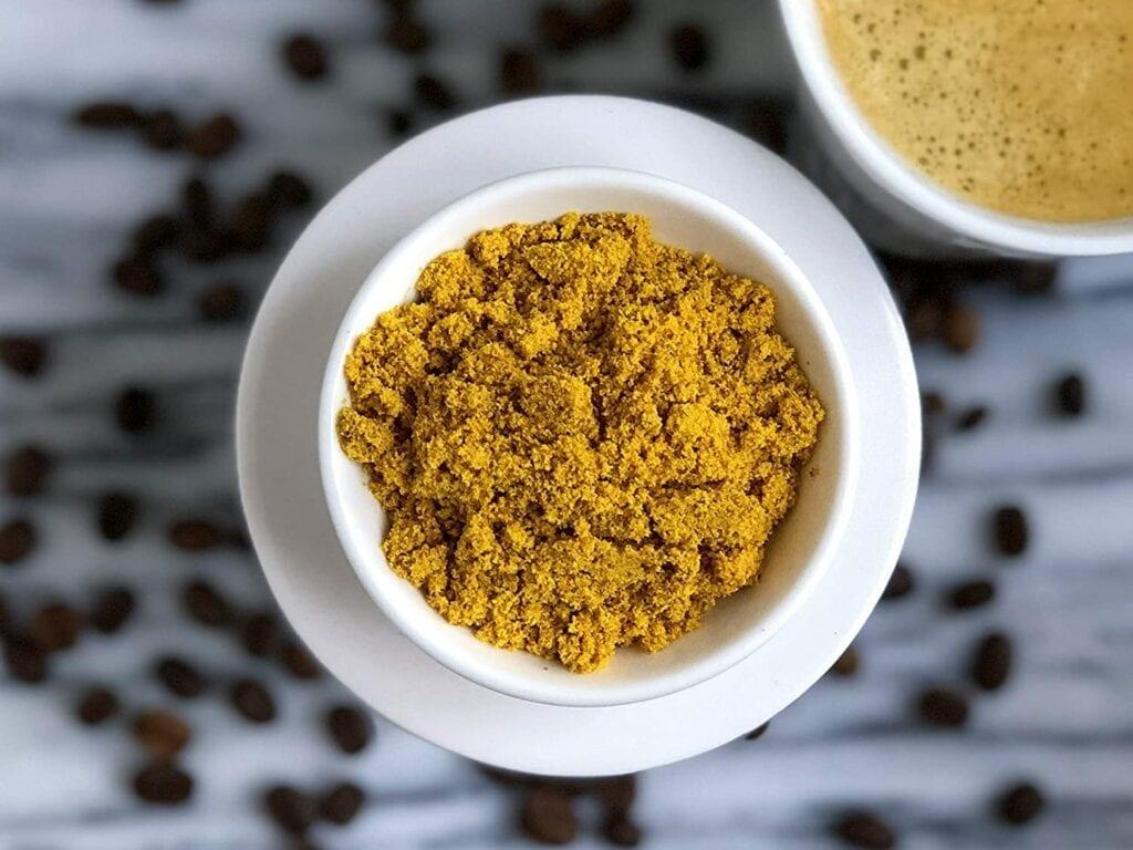 turmeric creamer in cup
