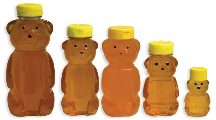 plastic bear bottles of honey