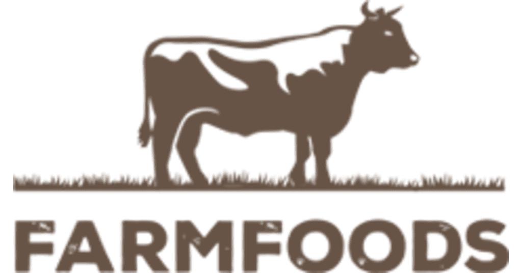 brown farmfoods logo cow
