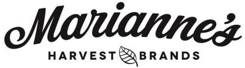 mariannes's harvest brands logo black