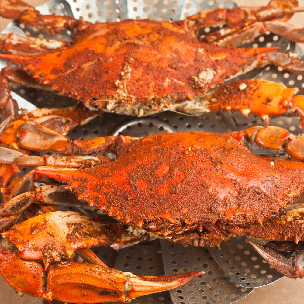 red crab two cooked
