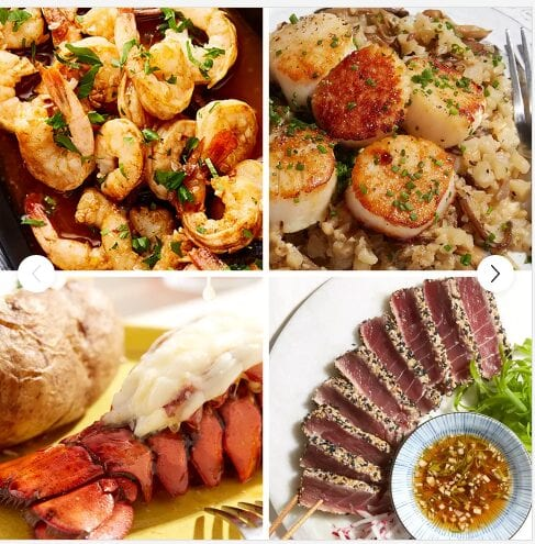 picture of various seafood cooked