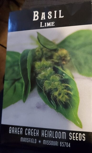 seed package for lime basil